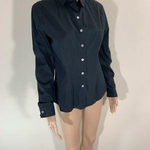 Anne Fontaine Black Button Front Shirt 2